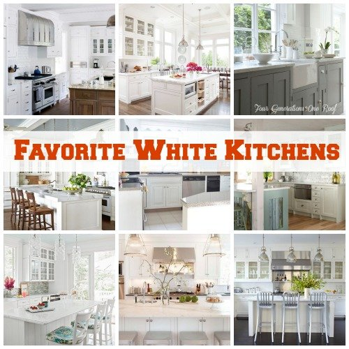 favorite white kitchens | Four Generations One RoofFour