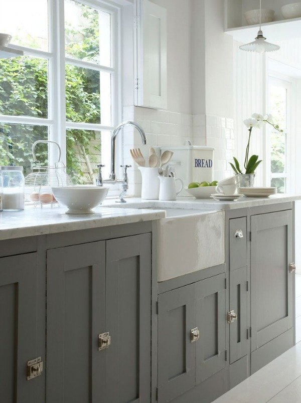 Favorite White Kitchens Four Generations One Roof - Gray lower cabinets