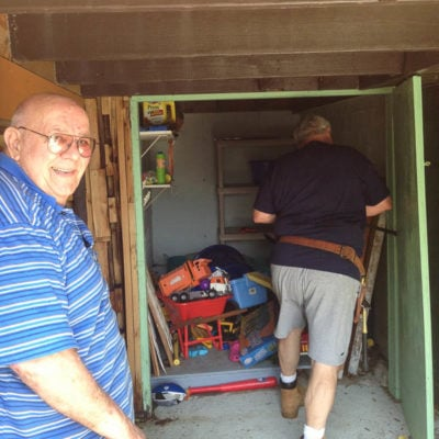 Our Toy Shed Renovation begins {disgusting rotted doors}