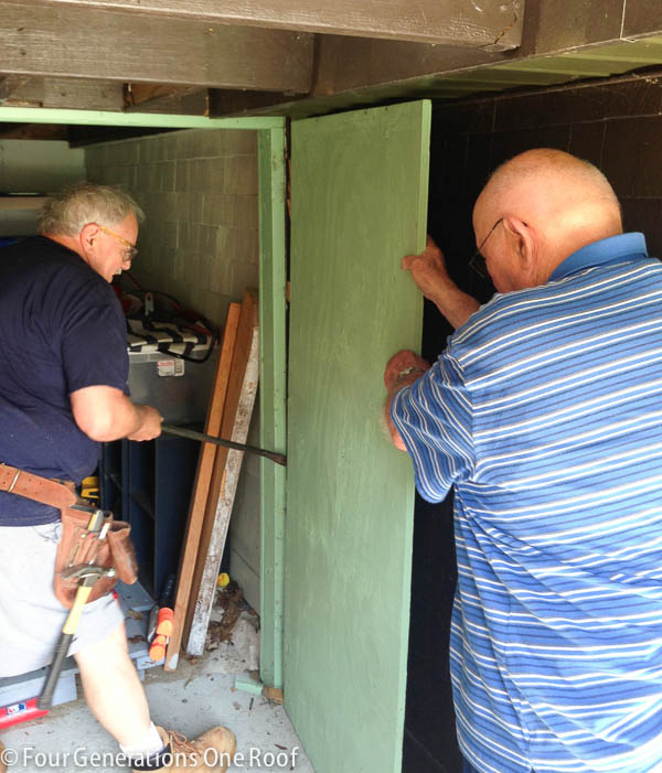 toy shed renovation {rotted doors}