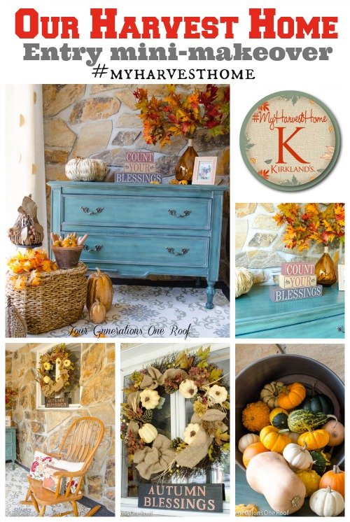 Fall decorating mini room makeover with kirkland s four
