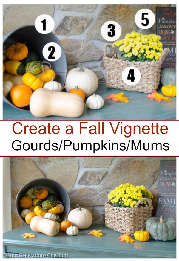 how to create an autumn vignette