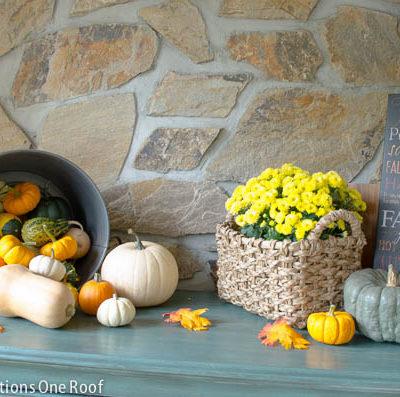 Our Autumn Foyer Vignette