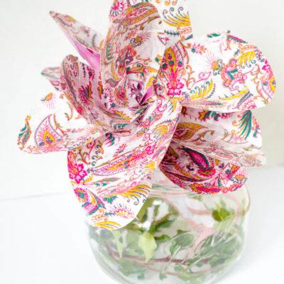 Duct tape flowers tutorial + headband