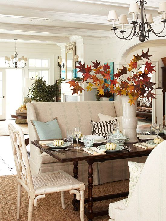 Fall decorating ideas on pinterest are you obsessed for Modern fall table decorations