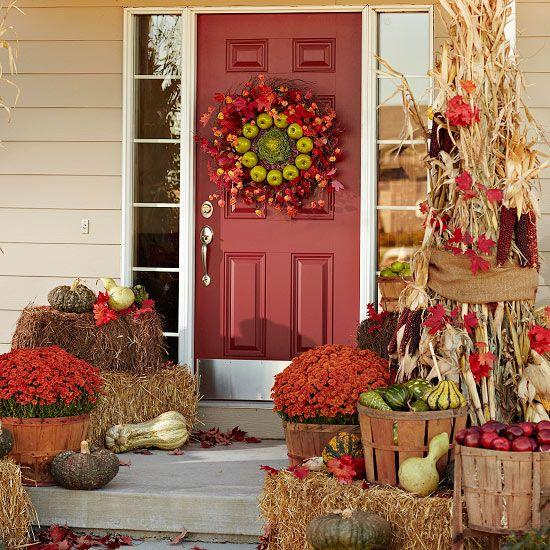 fall decorating ideas front door