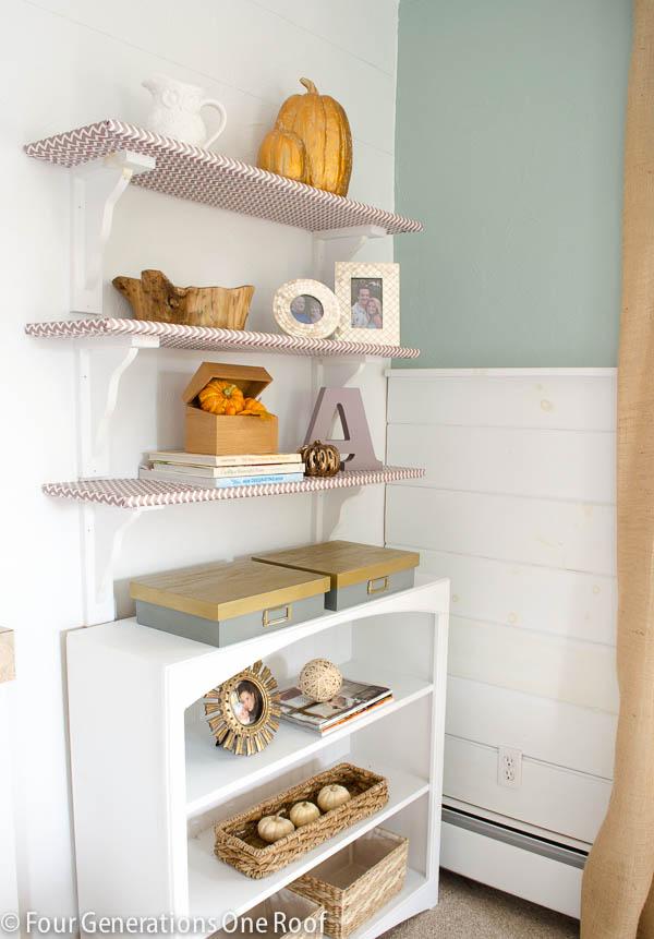 lavender_gold_bookcase_decorating-