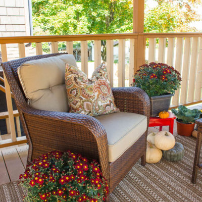 Autumn decorating on our porch + giveaway winners
