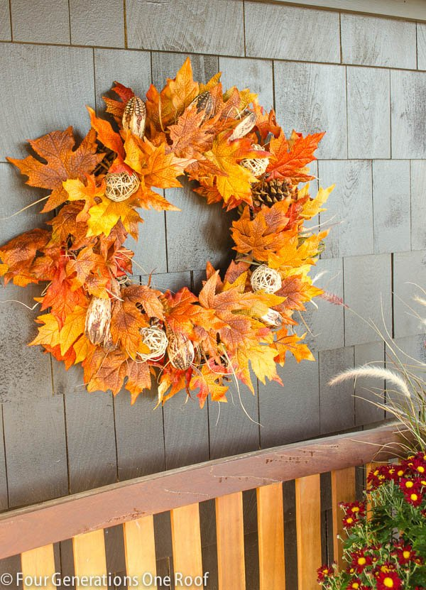 how to make a fall leaf wreath 6