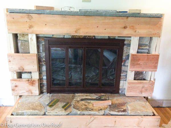 Our DIY Fireplace Makeover Framing Vents Part 2 Four