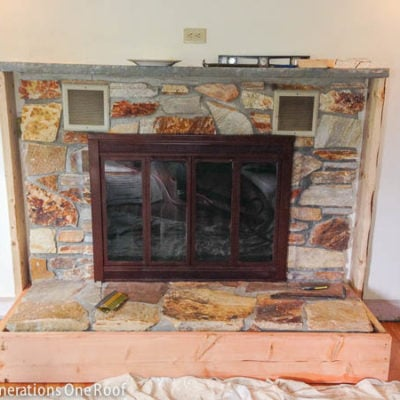 Our Stone Fireplace Makeover DIY {stage 1 framing}