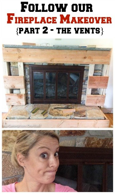 A diy fireplace makeover of a 1970