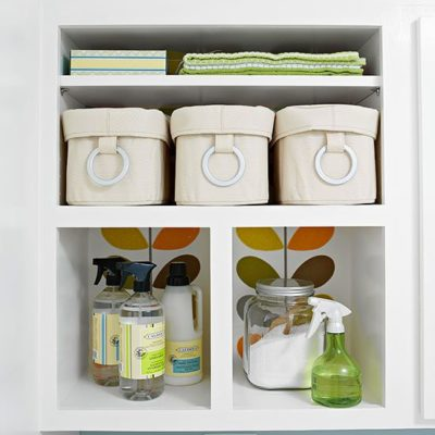 Laundry room organization + sneak peek of shelves