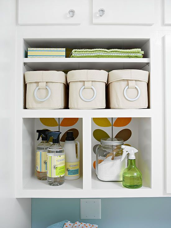 Laundry room organization + sneak peek of shelves | Four ...