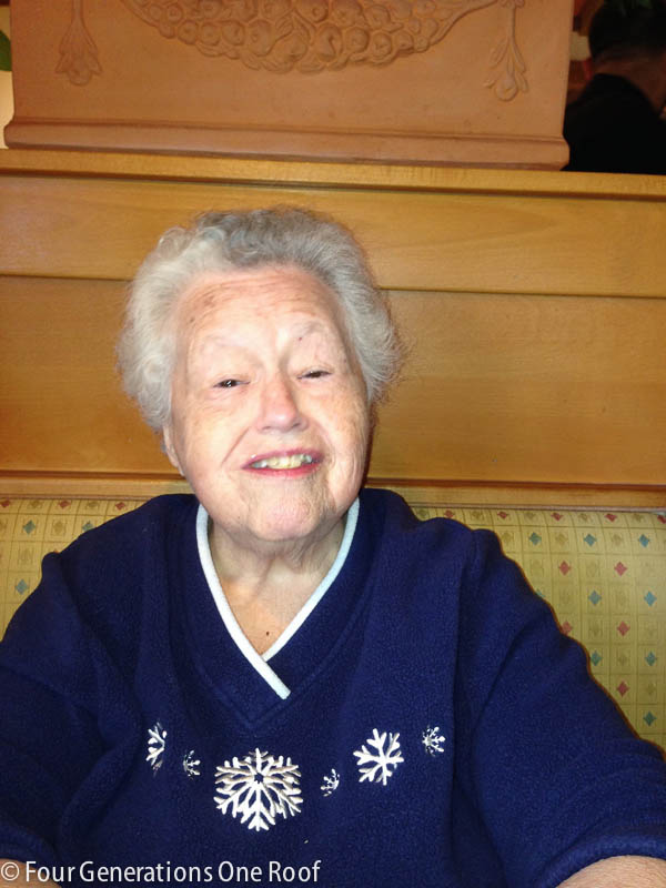 lunch date with my grandmother