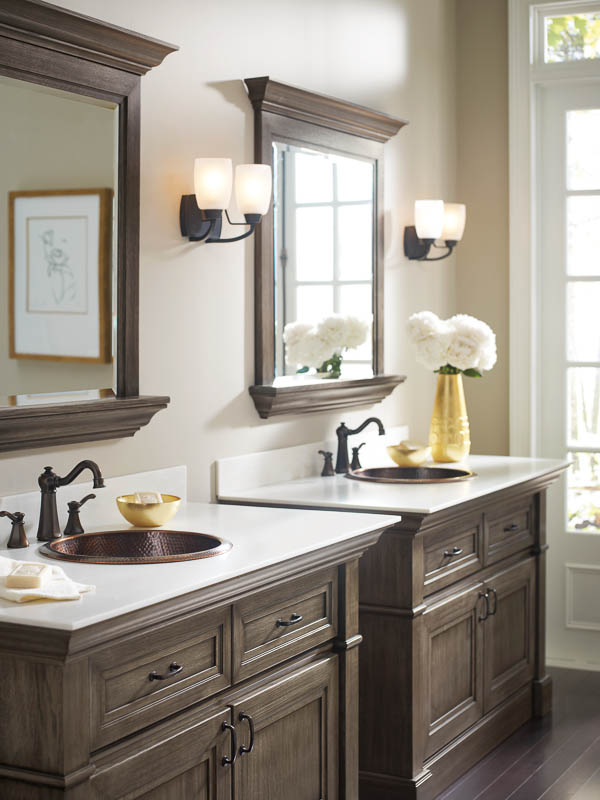 makeover bathroom vanity omega cabinetry free vanity makeover