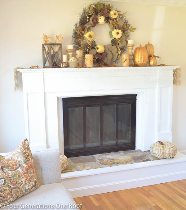 How to update a fireplace surround {brass} - Four Generations One Roof