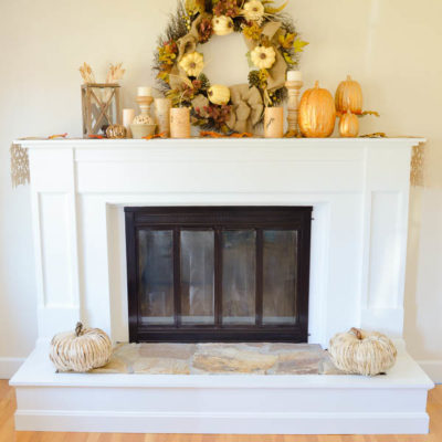 1970's Dramatic Fireplace Makeover {reveal}
