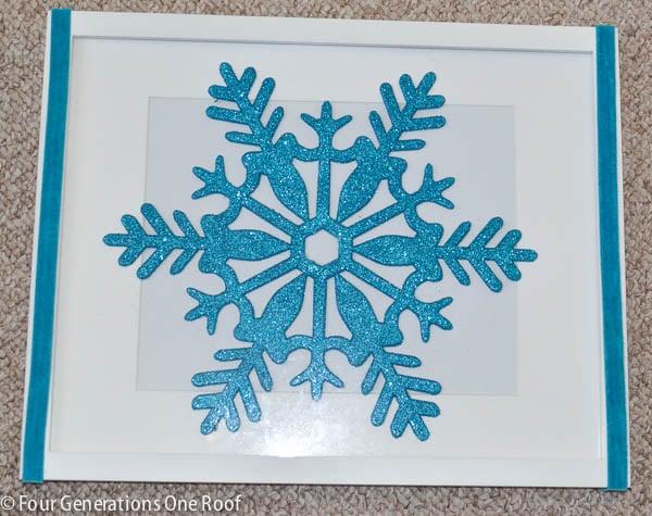 DIY snowflake wall art-3