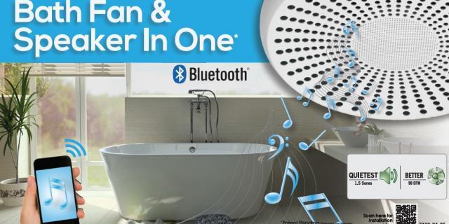 bathroom fan with speaker | home design styles