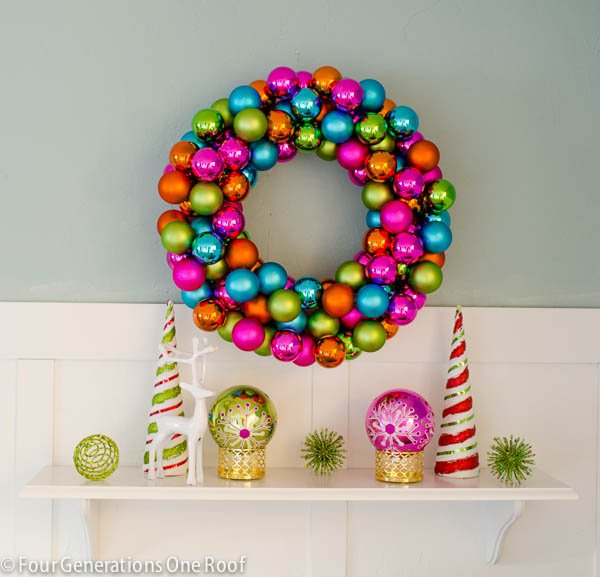 How to make an ornament wreath-6