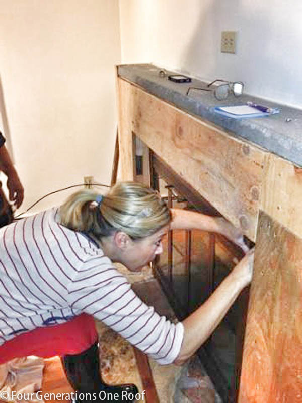 diy fireplace makeover covering stone-1
