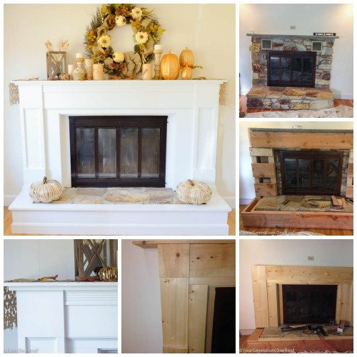 1970 fireplace makeover
