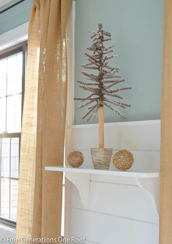 how to make a shelf christmas mantel-8