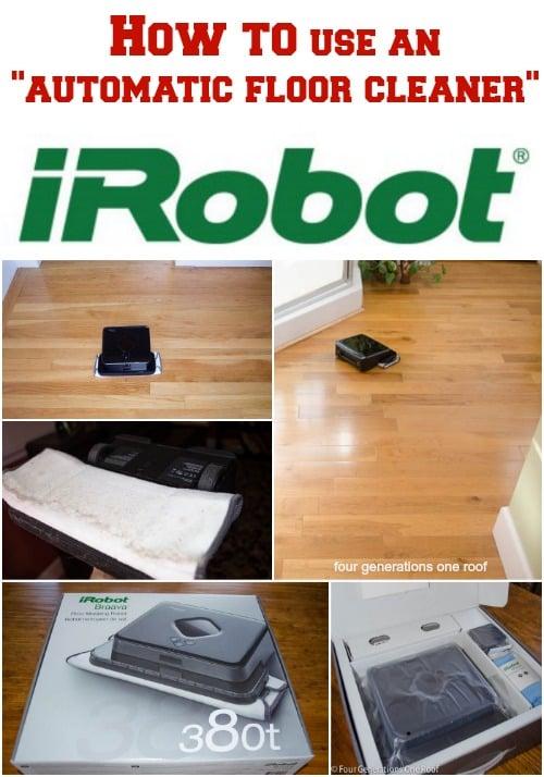 iRobot braava automatic floor cleaner