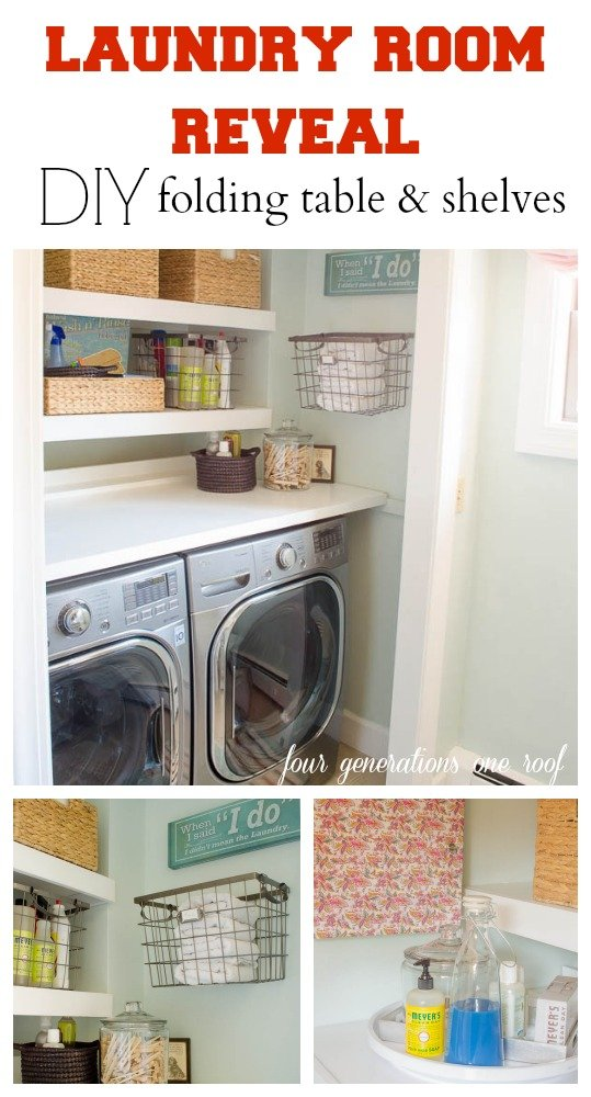 Very best Our budget laundry room reveal {laundry closet} - Four Generations  YQ88