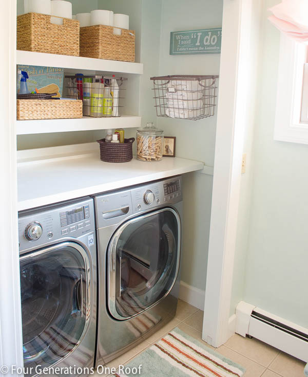 Our Budget Laundry Room Reveal Laundry Closet Four Cost To Add Bedroom And  Bathroom To Basement
