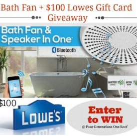 bath fan giveaway + $100 lowes gift card