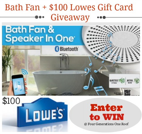 Win a bluetooth enabled fan + $100 Lowes gift card giveaway