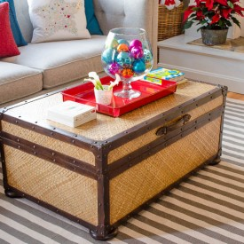 storage trunk hiding christmas gifts