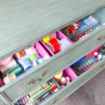 Our all-in-one craft drawer