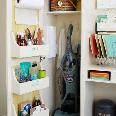 How to get organized 2014 {closet + cabinet door solutions}