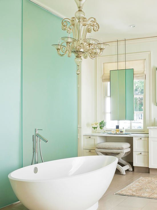 Master bathroom ideas green four generations one roof for Home and garden bathrooms