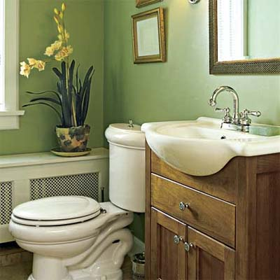 Master bathroom ideas green four generations one roof for Green color bathroom design