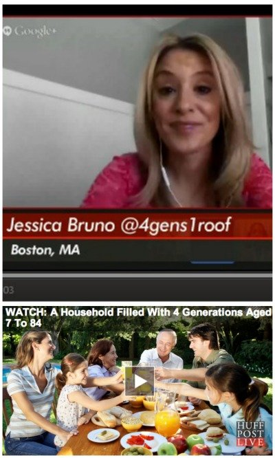 huffington post live 4 generations under one roof