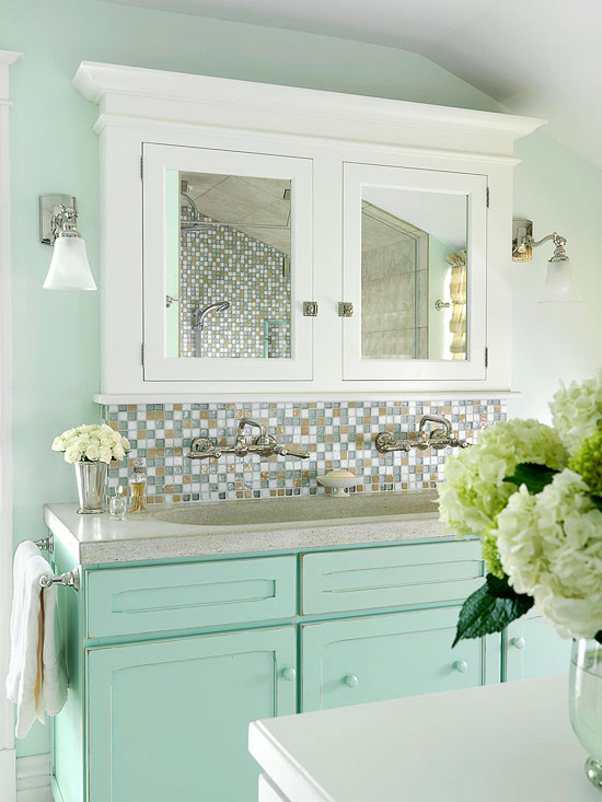 Light Green Bathroom Ideas Part - 28: Green Bathrooms