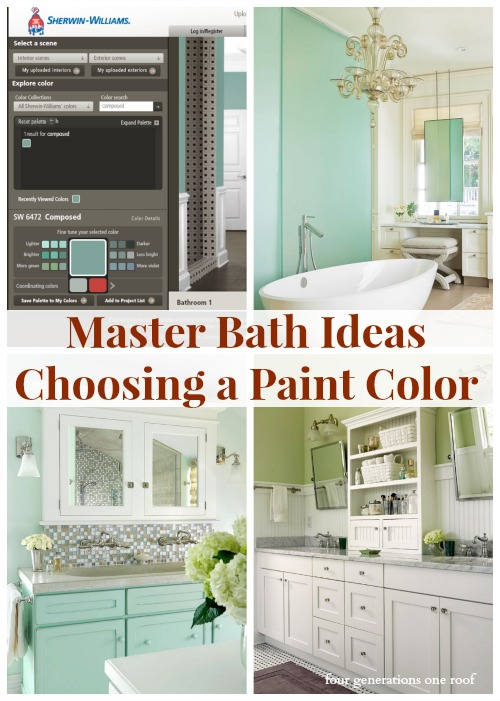 master bathroom ideas green bath