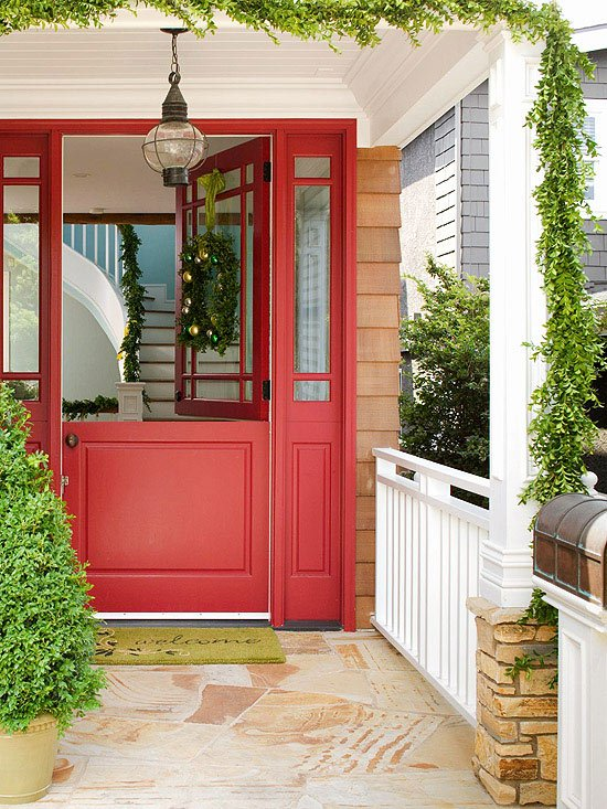 Merveilleux Red Exterior Door