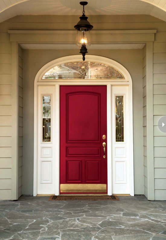 Best exterior door ideas our front door makeover four Best red for front door
