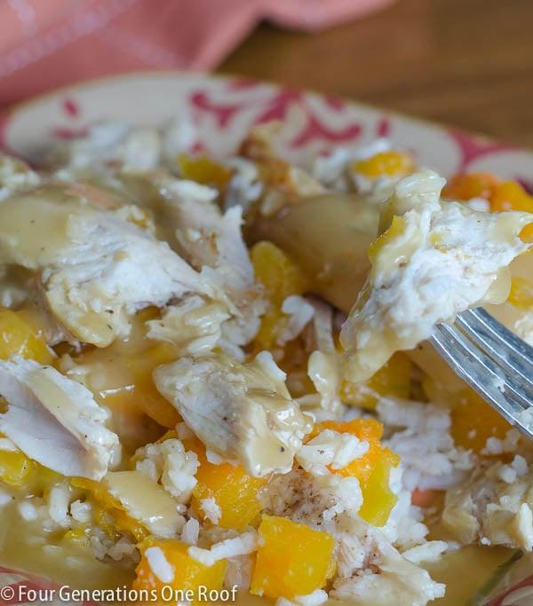 rotisserie chicken casserole -
