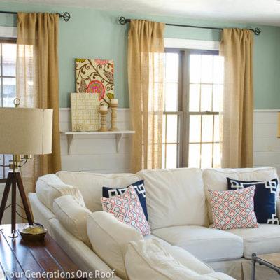 Spring Family Room + Better Homes & Gardens