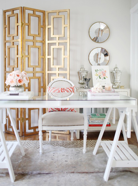 how to decorate with brass + metal