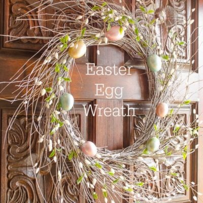 Easter Egg wreath for under $20
