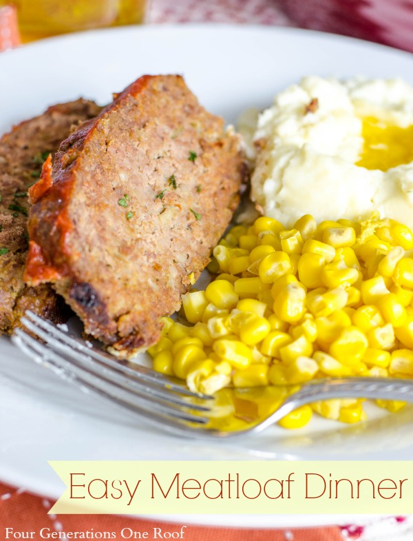 Our easy meatloaf dinner {sugar free syrup topping}