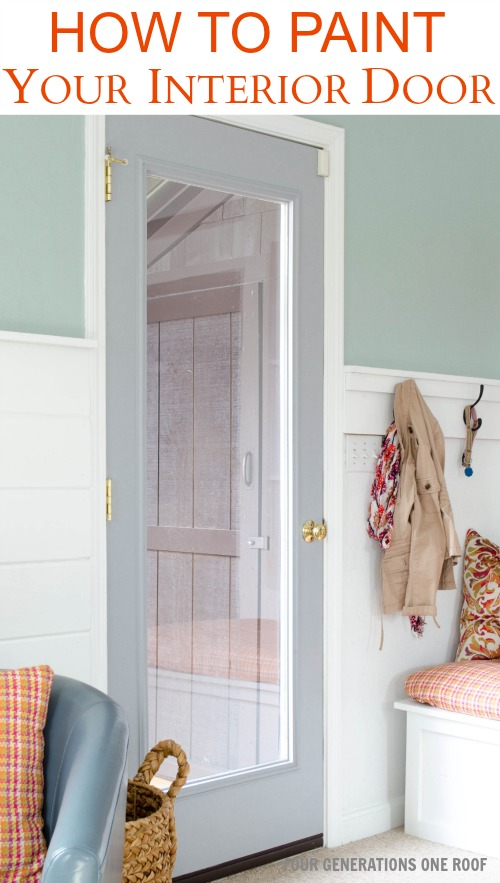 how to paint a door interior door makeover four generations one. Black Bedroom Furniture Sets. Home Design Ideas
