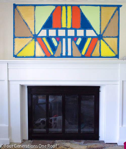 Painted DIY wall art-7
